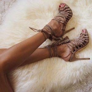 Pedicure girl in heels