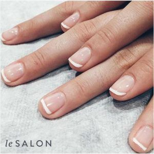 french manicure lesalon healthy nails
