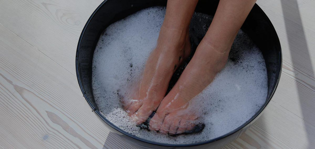 pedicure in foot bath TLC
