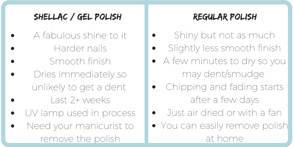 difference between shellac and normal polish