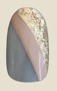 gold strip nail art