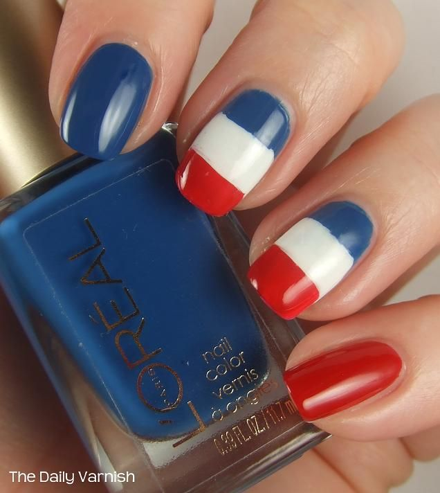 french inspired nail art