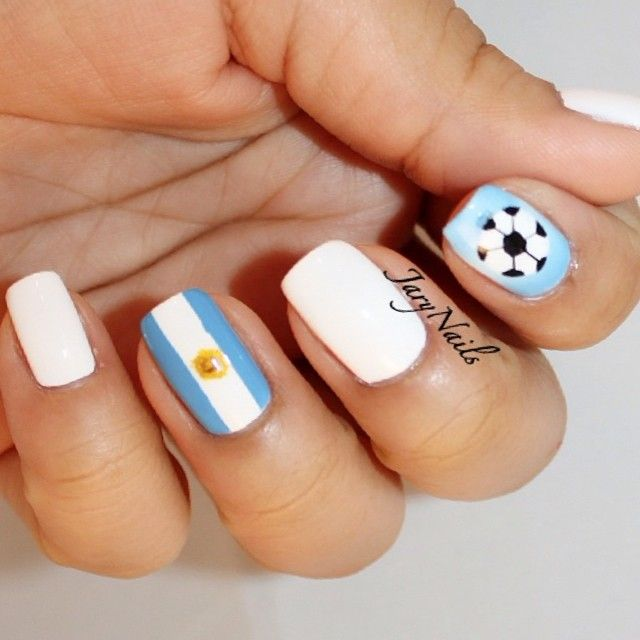 argentina nail art